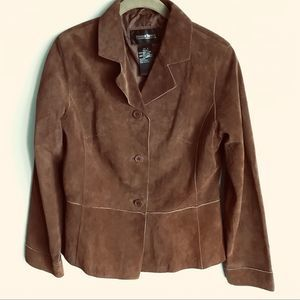 Brandon Thomas Jacket Brown Suede Leather
